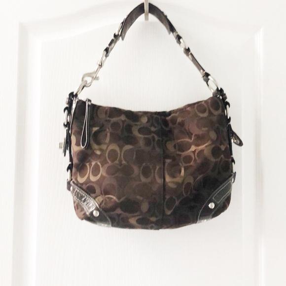 "Coach Handbags - Coach optic signature ""Carly"" shoulder bag"
